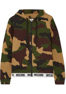 Moschino Camouflage-print Cotton-jersey Hoodie