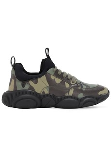 Moschino Camouflage Sneakers W/ Teddy Sole