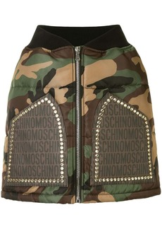 Moschino camouflage zip skirt