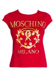 Moschino Cap Sleeve Logo Tee