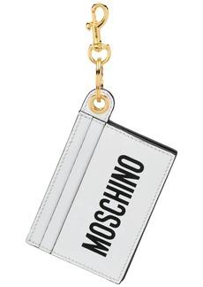 Moschino card holder keychain