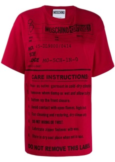 Moschino care label print T-shirt
