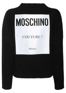 Moschino Cashmere & Wool Knit Sweater W/ Label