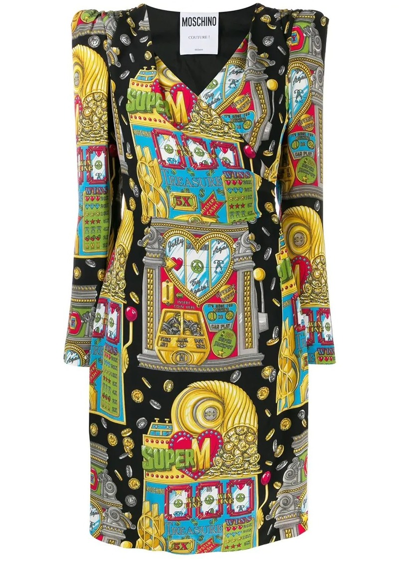 Moschino casino print dress
