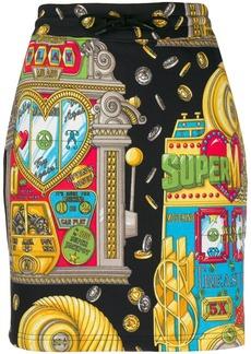 Moschino casino printed mini skirt