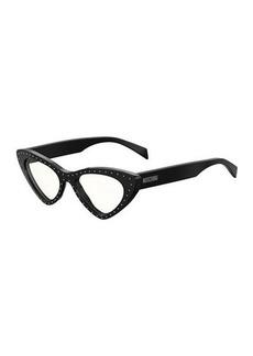 Moschino Cat-Eye Studded Optical Frames