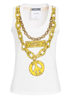 Moschino x Sims Pixel Capsule Jewels Printed Tank Top