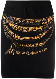 Moschino chain-print skirt