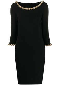 Moschino chain trim midi dress