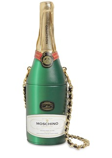 Moschino Champagne Leather Bag