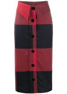 Moschino check print midi skirt