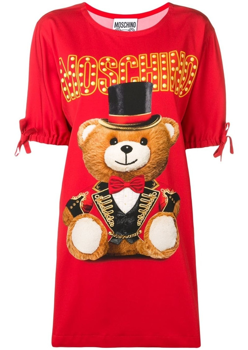 Moschino Circus Teddy Bear T-shirt dress