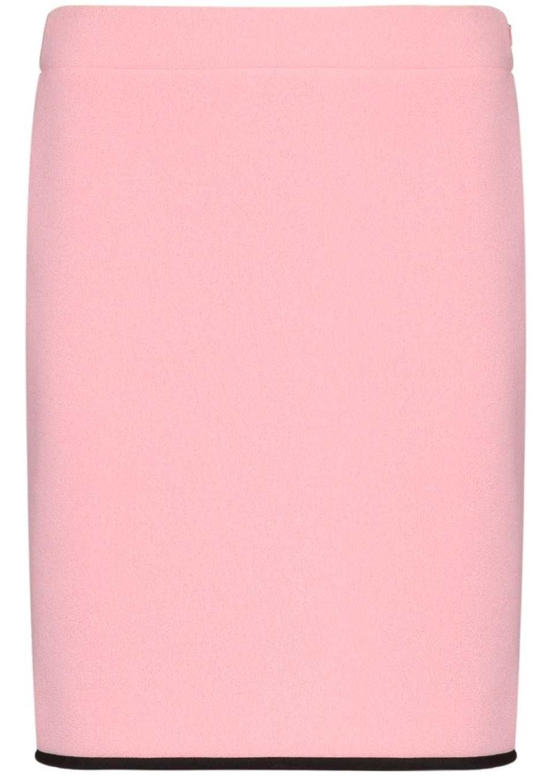Moschino contrast hem fitted skirt