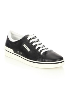 Moschino Contrast Leather Low-Top Sneakers
