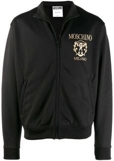 Moschino contrast logo bomber jacket