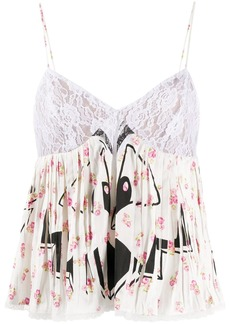 Moschino contrast print floral blouse