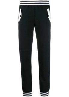 Moschino contrast trim track trousers