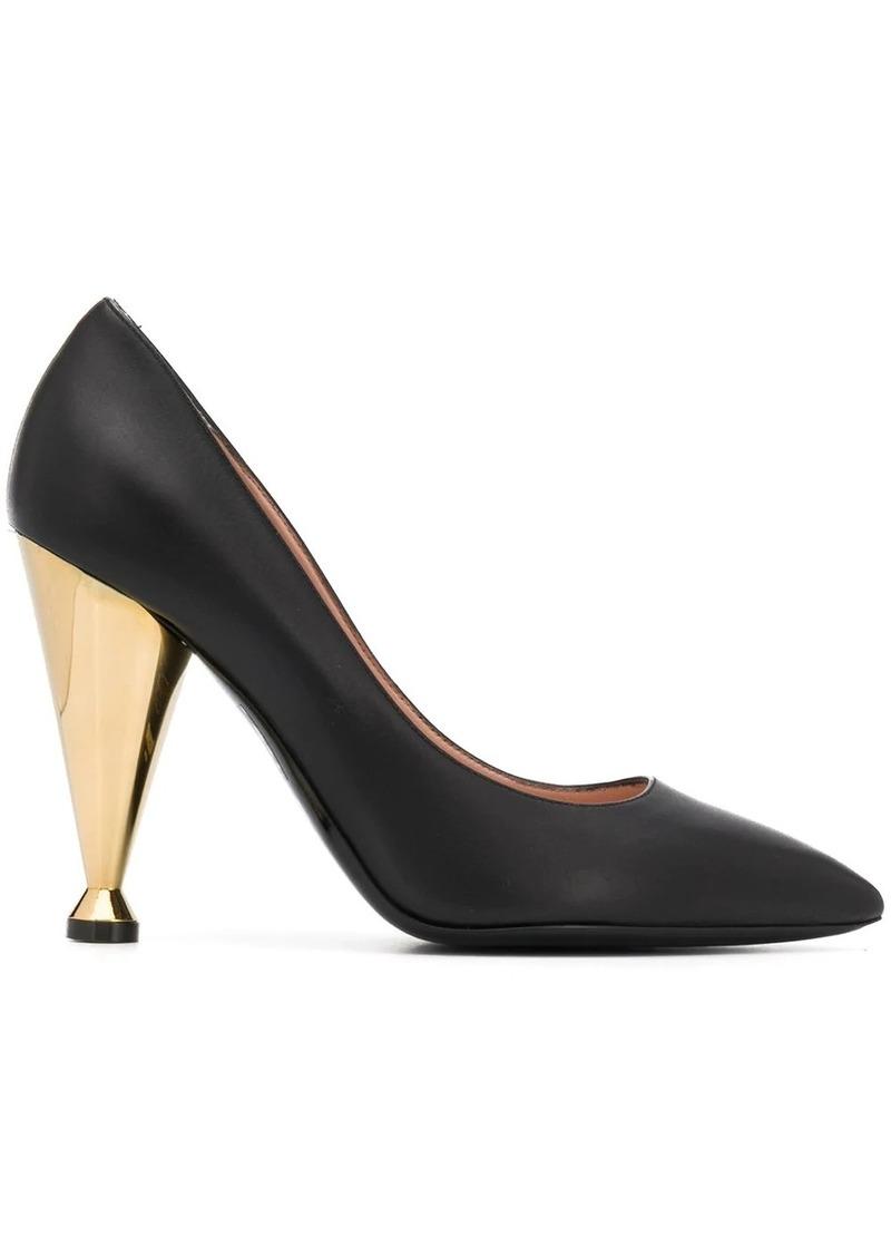 Moschino contrasting heel pumps