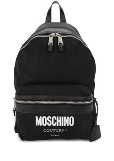 Moschino Cordura logo backpack