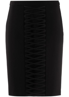 Moschino corset-detail fitted skirt