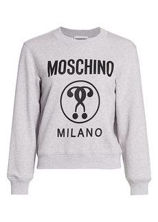 Moschino Cotton Fleece Logo Sweatshirt