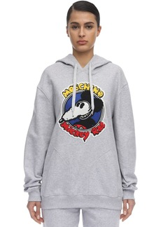 Moschino Cotton Jersey Sweatshirt Hoodie W/patch