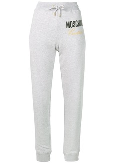 Moschino Couture embroidery track pants