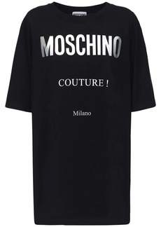 Moschino Couture Logo Cotton Jersey Dress