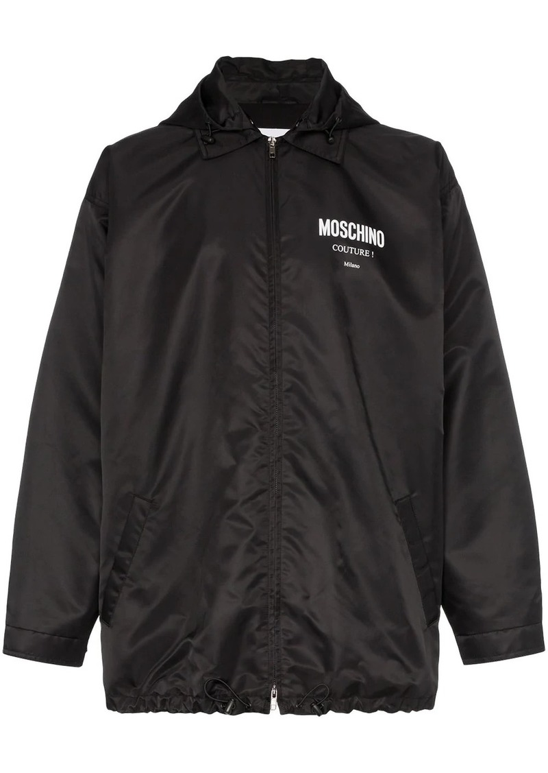 Moschino couture logo hooded jacket