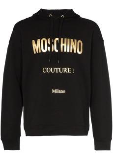 Moschino couture logo printed hoodie