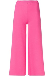 Moschino cropped flare trousers