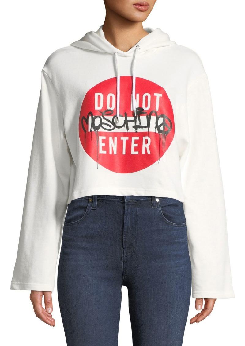 Moschino Cropped Logo Sweatshirt Hoodie