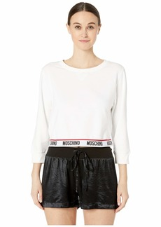Cropped Sweatshirt w/ Moschino Band