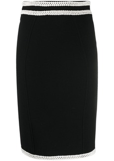 Moschino cross-stitch waist pencil skirt