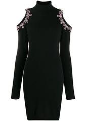 Moschino crystal-embellished cutout jumper dress