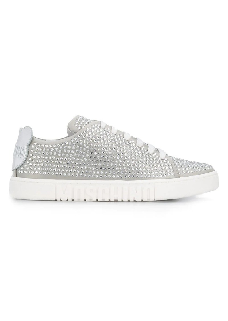 Moschino crystal-embellished sneakers