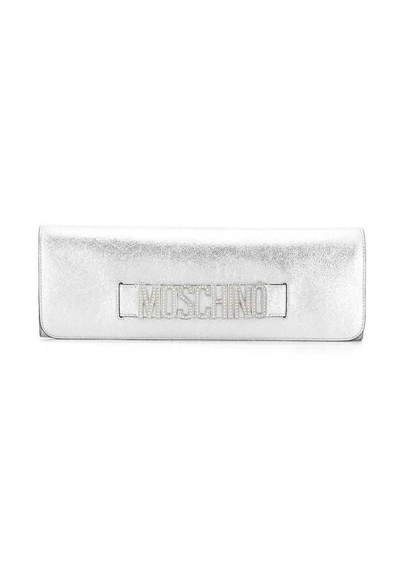 Moschino crystal embellishment clutch bag