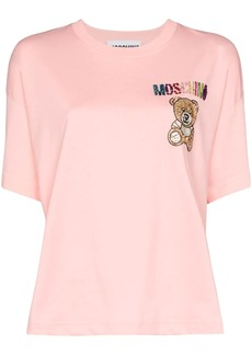 Moschino crystal teddy logo T-shirt