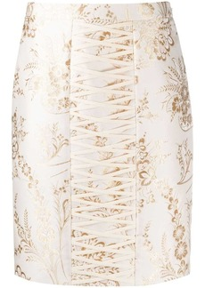 Moschino damask jacquard fitted skirt