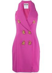 Moschino decorative button short dress
