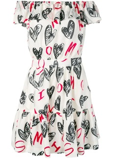 Moschino devoré hearts dress