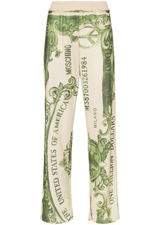 Moschino dollar bill logo print track pants