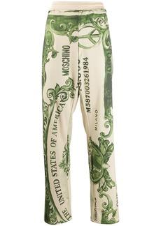 Moschino dollar bill print track pants