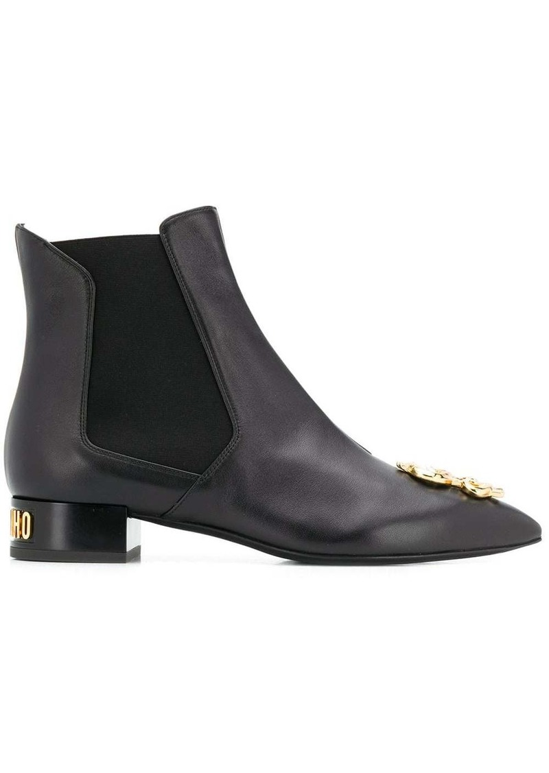 Moschino dollar sign plaque ankle boots
