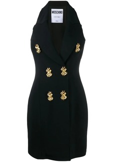 Moschino dollar sign vest style dress