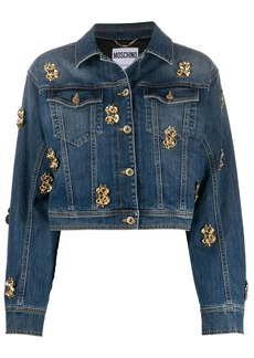 Moschino dollar-stud denim jacket