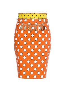 Moschino Dotted Chain Pencil Skirt