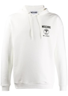 Moschino double exclamation point print hooded sweater