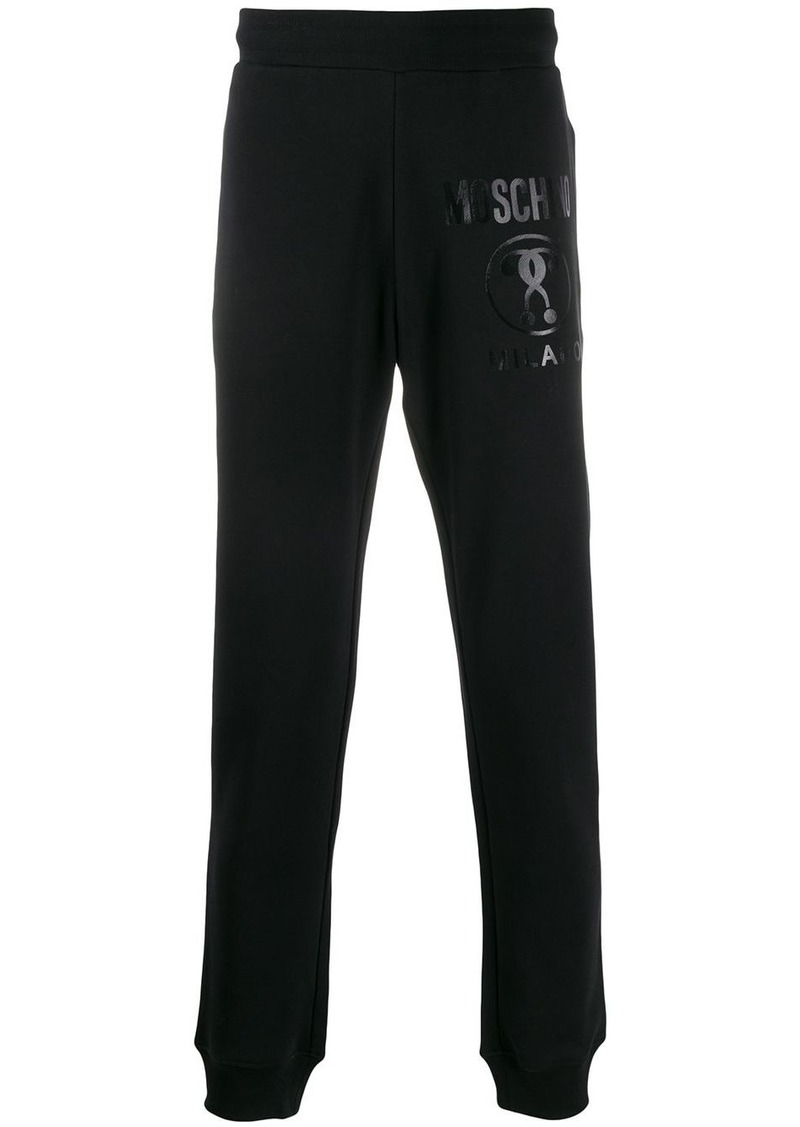 Moschino Double Question Mark print track pants