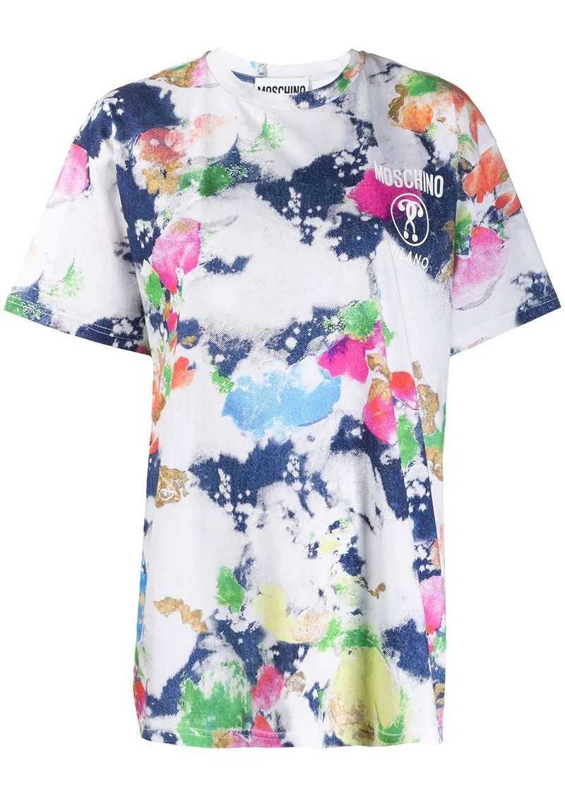 Moschino Double Question Mark tie-dye T-shirt